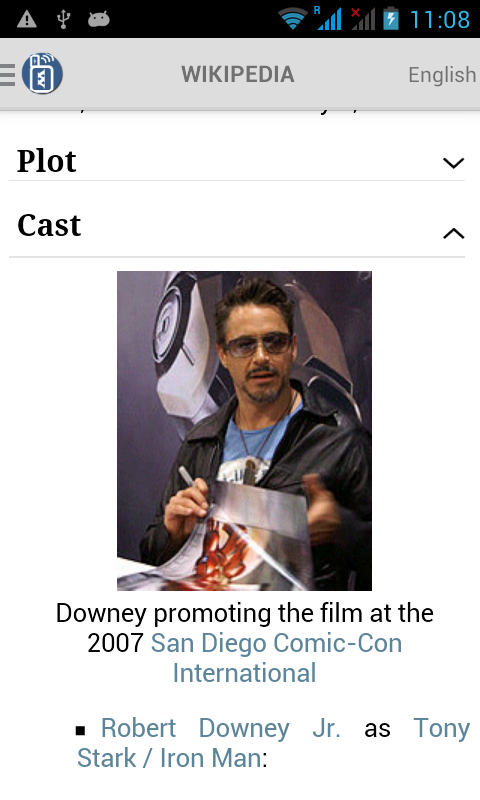 Full article for Ironman movie